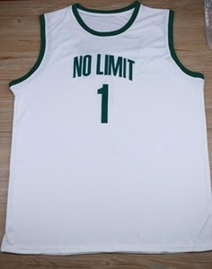 imagens reais Mestre P # 1 No Limit Retro costurado de basquete masculino Jersey personalizado Número Nome Jerseys