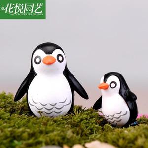adornos 3pcs / lot XBJ264 ornamento cMoss Micro paisaje pingüino padre e hijo muñeca DIY Pequeño Decoración Juguetes Multi-internos