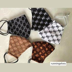 La moda de París Show Designer Luxury Mascarilla para Máscaras Hombre y mujeres amantes de tela importada reutilización del polvo anti protector de calidad superior
