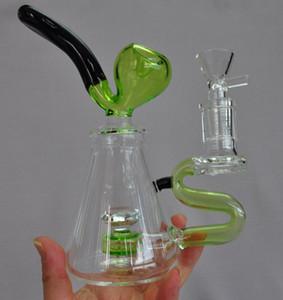 Articoli per Fumatori Rig Creative Glass tubo di acqua Bong Dab olio Tubi a mano del tabacco migliore qualità cetriolo economici Bella tubo a mano