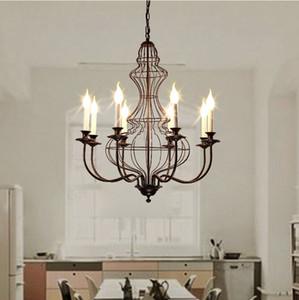 American Vintage Fer Chandelier Duplex Escalier restaurant Living Room Villa Lustres Lighting Luster Livraison gratuite
