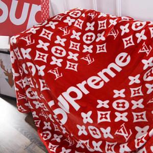 2019 neue S Brief Beliebte Logo Decke Klimaanlage Baby Schlafen Decke Flanell Tuch Frühling Und Herbst Bein Decke
