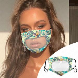 Maschera Donne adulto del cotone di modo sottile trasparente respirabile maschere antipolvere protezione riutilizzabile lavabile maschera di 5 colori D62315