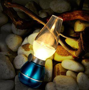 Retro LED Controle de Sopro Lâmpada de Querosene de Carregamento USB Desk Lamp Atmosfera de Luz Pode Ser Escurecido Bed Head Decoration Lâmpada de Mesa Night Light BH1906 ZX