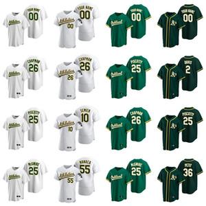 Jerseys de béisbol Womens Chad Pinder Jersey 16 Billy Butler 60 Andrew Triggs 3 Boog Powell 19 Josh Phegley 39 Blake Treinen Custom cosido