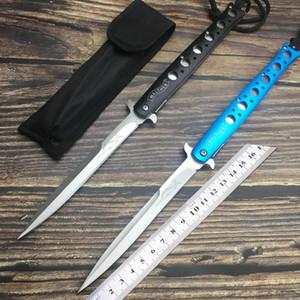 2 couleurs SET TAC FORCE Couteau de poche STILETTO Extra Large avec Ressort Ouvert de 13 pouces