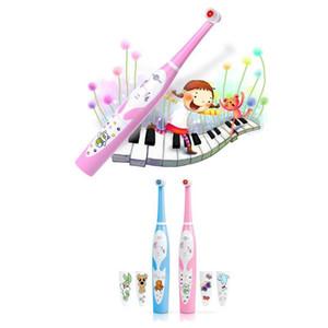 Plak IPX6 Su geçirmez Ücretsiz Kargo Hızlı Removal Yumuşak Fırça Başkanı ile Yeni Prooral Çocuk Müzik Diş Fırçası 2206