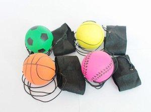 63mm Werfen Bouncy Ball Gummi Handgelenk Band Springenden Bällen Kinder Lustige Elastische Reaktion Trainingsbälle Antistress Spielzeug