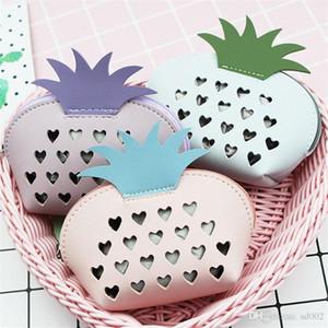 Frucht-Ananas Mini Geldbörse Splicing Color Mix reizender Karikatur-Mädchen Short Wallet Beauty-Partei-Bevorzugung 5 8MK E1