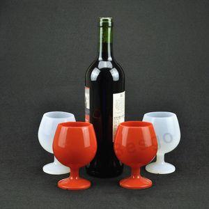Silicone Vidro de vinho ao ar livre Camping Portátil Copo de Cerveja Standing Cálice de silicone Wine Cup Óculos Novo Design Wine Bar Moda Caneca DBC BH2766