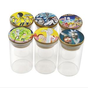 Frasco de vidro com tampa selada seco Herb Pill Box Moistureproof armazenamento caso Airtight tabaco cachimbos Stash latas Jar 2 Tamanhos