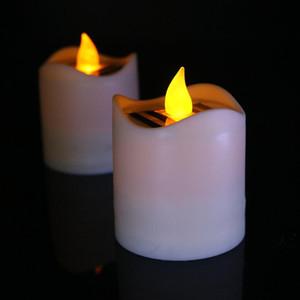 fornitura transfrontaliera di solare candela ricaricabile illumina impermeabile principale della candela di nozze luci decorative della fabbrica