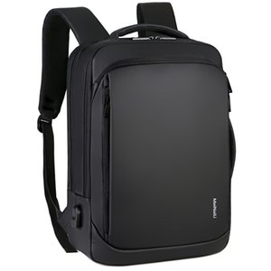15.6 인치 노트북 가방 남성 남성 백팩 비즈니스 노트북 Mochila 방수 돌아 가기 팩 USB 충전 가방 여행 BagpackMX190903