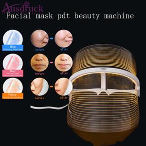 New Arrival estilo Coreia do PDT Light Therapy LED Máscara Facial 3 cores LED Photon para Face rejuvenescimento da pele Máscara Facial Uso Doméstico