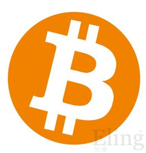 6000pcs diâmetro 30 milímetros bitcoin etiqueta da etiqueta do logotipo, cor de laranja impressão em papel gloss, No.FS03 item