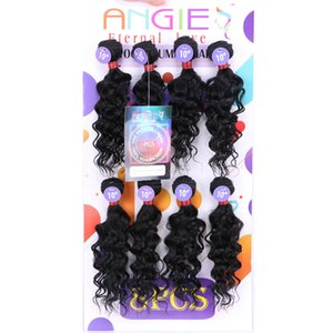 weft blended 8pcs Kinky curly hair extension mongolian human curly mix synthetic braiding hair crochet braids jerry curly for marley factory