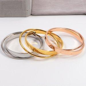 bienes joyería clásica página web de moda Oficial brazalete de acero inoxidable de lujo CK1 nueva llegada tienen tres colores eligen