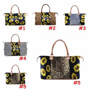 5 Стилей выходных Сумки Sunflower Печатных сумки Цветочного вещевой мешок Leopard Дорожной сумка Девушка Холст сумка с морской перевозкой CCA12137
