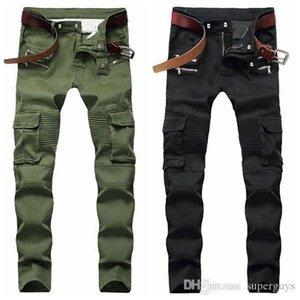 Mens Distressed Ripped Skinny Jeans Fashion Designer Men Jeans Slim Motorcycle Moto Biker Causal Mens Denim Pants Hip Hop Men Jeans