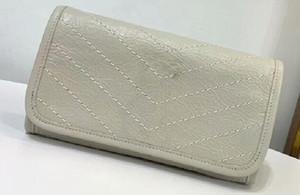 Realfine888 5A calidad superior 583552 20cm Niki grande monedero de piel de becerro arrugado de la vendimia, Ven Bolsa para polvo caja, envío libre