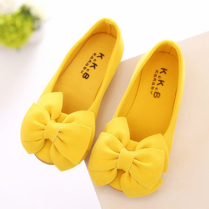Kids Baby Toddler Children Bow Wedding Party Princess Leather Shoes For Little Girls Slip On Dance Single Shoes New spring 2020