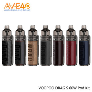 VOOPOO DRAG S 60W VW Pod Kit de 4,5 ml Built-in 2500mAh batería compatible con PnP bobinas originales del 100%