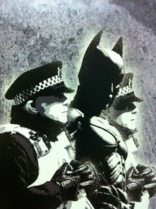 Холст Бэнкси Street Art Batman арестовывать Home Decor расписанную HD Печать Картина маслом на холсте Wall Art Canvas картинки 200218
