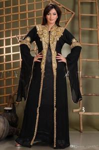 Длинные арабский Кристалл бисера исламская одежда для женщин Абая в Дубае Абая Кафтан мусульманская Arabic Вечерние платья партии мантий выпускного вечера 316