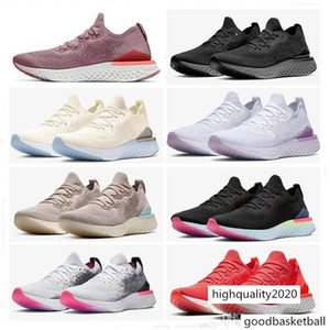 Epic React 2 Rose Gold Particles Super Light Outdoors Sports Shoes For High Quality Men Women Casual Shoes Size 36-45