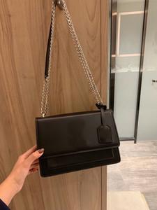 di design di lusso delle donne di cuoio reali delle borse del sacchetto della catena 24 centimetri crossbody famosa borsa cerchio di qualità di grande formato