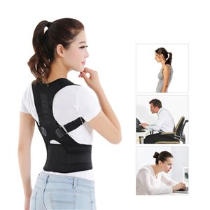 Hombre Mujer ajustable magnética corrector de la postura posterior del corsé corsé para la espalda recta Cinturón de soporte lumbar Corrector de espalda M / L