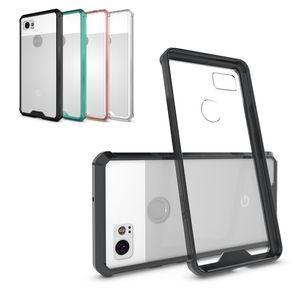 Slim Hydrid Cover Acrylic + Hard Plastic Case for Google Pixel XL 2 2XL 3 3XL Clear Back صدمات حالة الهاتف