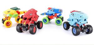 Nueva grande de doble vuelta dinosaurio inercial Volver vehículo de cuatro ruedas para usos especiales Vehículo anticaída de vehículos de juguete