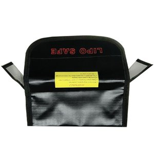 FUSE MODEL Black Silver Fireproof Lipo Safety Bag waterproof Lipo Battery Guard Pouch Sack for Charge&Storage185 x 75 x 60mm