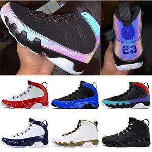 2020 9 9S أحذية المتسابق الأزرق الرجال لكرة السلة رياضة الأحمر UNC رجل رياضي المدربين الرياضية حذاء حجم 7-13