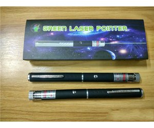 Green laser pointer 2 in 1 Star Cap Pattern 532nm 5mw Green Laser Pointer Pen With Star Head Laser Kaleidoscope Light with Package FREE SHIP
