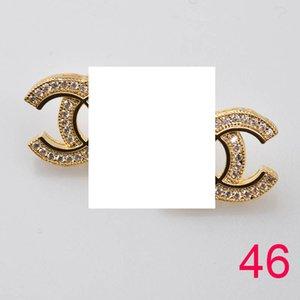 Luxury orecchini firmati personalità temperamento design lettera Lettera perno personalità orecchino temperamento alla moda