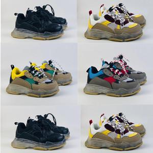 Infante tripla s Cancella suole delle scarpe da tennis di sole neri papà Chic Style Comfort Runners per bambini Scarpe da corsa dei bambini della ragazza del ragazzo