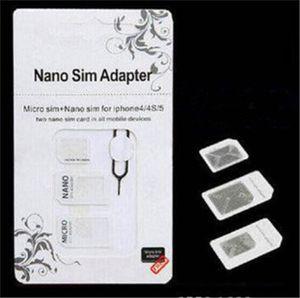 Noosy Nano 4 em 1 cartão SIM padrão Micro conversor adaptador SIM Pin Para Iphone 11 Pro Max X XS XR com pacote