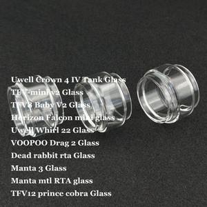 Grasso di ricambio Lampadina Tubo di vetro per Crown 4 IV Whirl 22 TFV-mini v2 TFV8 Baby V2 Falcon mini Drag 2 Manta 3 MTL TF12 Prince Cobra DHL
