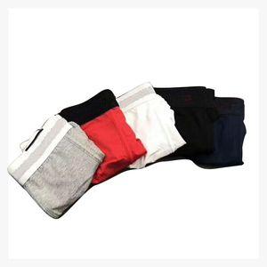 Cotton Men Underwear Boxer Shorts Lettre autour du coton Boxer drôle Sexy jeunesse 6 couleurs Hommes pénis Cuecas Boxer Homme 5pcs / lot