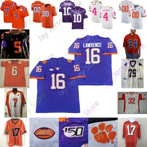 Clemson Football Jersey NCAA College Trevor Lawrence Chase Brice Etienne Jr. Higgins Ross Rodgers Simmons Davis Foster Lyn-J Dixon Mellusi