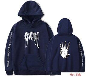 랩퍼 힙합 스웨터 팜 손으로 그린 XXX 복수 인쇄 후드 티 셔츠 XXXTENTACION 남성 여성 풀오버 후드 탑