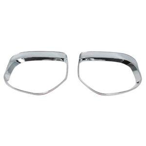 Rearview Side Mirror Glass Rain Shield Sun Visor Shade Frame 2Pcs Set for Mitsubishi Outlander car