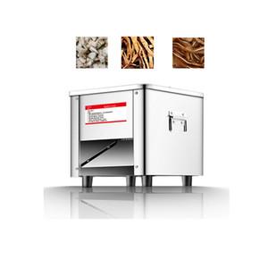 Acero Vegetal comercial Carne máquina del cortador automático inoxidable 850W Shred máquina de cortar Dicing máquina eléctrica cortador Amoladora