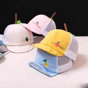 Bebês Crianças Hat Baseball Crianças dos desenhos animados Fruit malha repicado Bola Cap Cap Rapazes Meninas Chapéus Baseball Sunhat