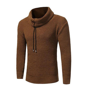 Mens Turtleneck Drawstring Sweater Casual Long Sleeve Pullover Sweatershirts