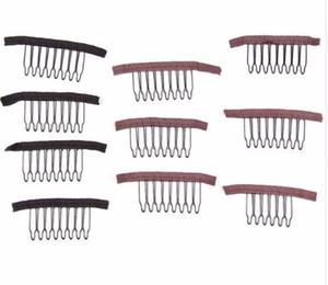 2019 Peruk Klipler Combs 10 Adet / paket Peruk Uzantıları Için Combs Saç Klipler Siyah Kahverengi Renk 6 8 Diş