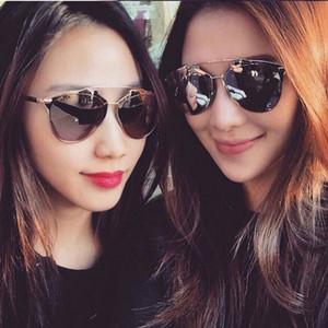 Toptan Satış - Toptan-Klasik Rose Gold Ayna Güneş Moda REFLECTED Marka Tasarımcısı Kadınlar Veya Erkekler UV400 Gerçek Güneş Gözlükleri Kadın Gözlük Açık
