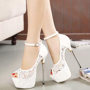 Weiße Spitze Blumenhochzeitsschuhe Slip On Round Toe Brautschuhe High Heel Damen Pumps Flache Runde Zehe 8 Cm
